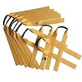 Gm&bw 10 juegos de gomas para tirachinas professional,catapulta goma elastica plana hecho de precise ,recambio potente para tirachinas de caza espesor de 0,75 mm estilo ott