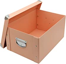 GUOZI Collapsible File Storage Box,Home Decorative Cardboard Storage Bin with Dust-Proof Lids and Strong Handles,Office Le...