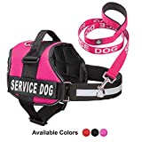 Industrial Puppy Service Dog Vest with Hook and Loop Straps & Matching...