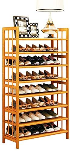 Houten schoenenrek 8 niveaus schoenenrek 24 paar voor ingangsportaal slaapkamer ingang notenhout kast houten plank voor hal (kleur: notenhout afmetingen: 70 * 26 * 125 cm) 70 * 26 * 125cm walnoot