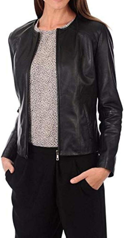 New Fashion Style Women's Leather Jackets Black B90_