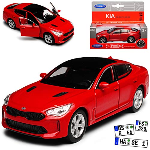 Welly Kia Stinger Limousine Rot Ab 2017 ca 1/43 1/36-1/46 Modell Auto