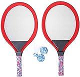 HLD Komplette Badminton Set Badminton Tennisschläger-Set mit Kugel for Kinder Luminous Schläger, Extra Large Vogel Leuchtet Flut Weiche Badminton mit Federball Bälle Jungen und Mädchen Strand Außen