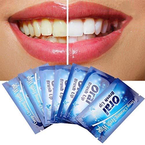 50pcs Toallitas Desechables Cepillo bucal Dedo para Limpieza Profunda Toallitas Diente Dental Cuidado bucal Limpieza Dental Toallitas blanqueadoras de Dientes Cepillo de Dientes desechable