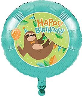 Creative Converting Sloth Party Mylar Balloon, 1 ct, Mulit-color, 18""