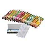 Aijoo 手巻きタバコ たばこ紙 喫煙具 無漂白紙を使ったナチュラルなローチ クラシック キングサイズスリム ペーパー 5冊160枚