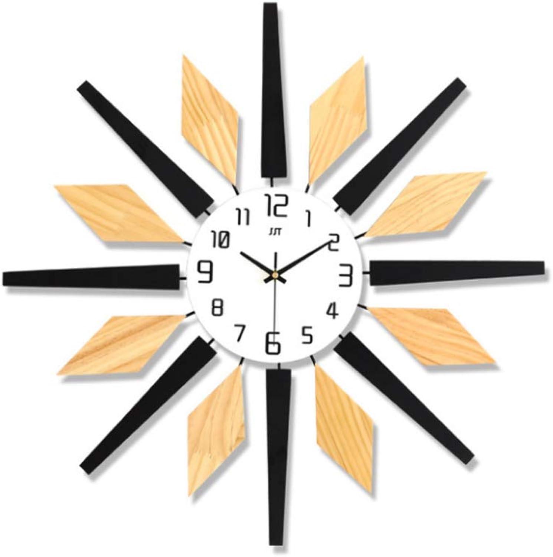 en stock Reloj de parojo de madera maciza simple simple simple europeo fácil de instalar relojes silenciosos creativo adecuado para decorar la moda de la sala de estar, reloj de cuarzo  Mejor precio