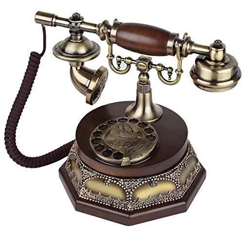 ZARTPMO Sistema de teléfono de Oficina en casa con botón de dial Giratorio de Estilo Antiguo Vintage