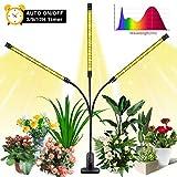 Luz para Plantas, SOLMORE Grow Light 27W Lámpara de Plantas LED con Timer 120 Leds Full Spectrum con Veg & Bloom Channel para Jardín de Interior Greenhouse Hydroponics Herb Flower Growing