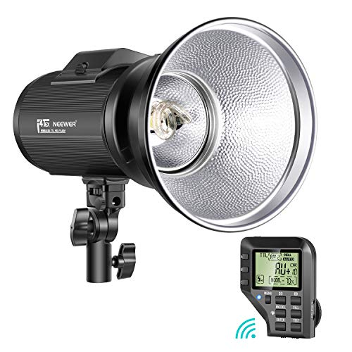 Neewer i4T EX 400W Monolight Compatible with Nikon, 2.4G TTL HSS Studio Flash Strobe with Wireless Trigger/Modeling Lamp/Recycle in 0.2-1.3 Sec/Lithium Battery(520 Full Power Flashes)/Bowens Mount