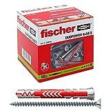 fischer 538245 Duopower 6x50 S, Gris y rojo