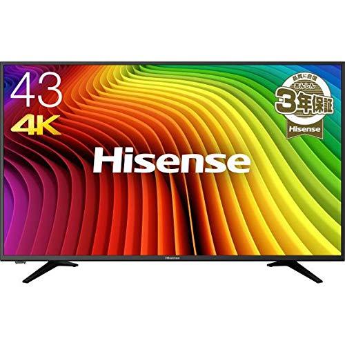 ハイセンス 43V型 4K対応液晶テレビ -外付けHDD録画対応(裏番組録画)/メーカー3年保証- 43A6100