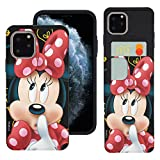WiLLBee Compatible with iPhone 11 Pro Case (5.8inch) Dual Layer Card Slide Slot Wallet Bumper Cover - Idea Minnie Mouse