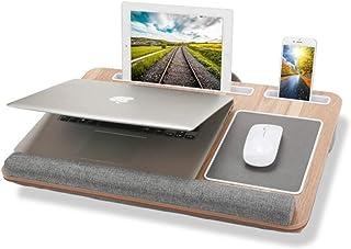 PPOSH Lap Desk, portátil Ordenador portátil representa Cama Escritorio, Tablet PC Móvil Bandeja de la Ranura de Tarjeta, Construido en el cojín de ratón y muñeca del cojín