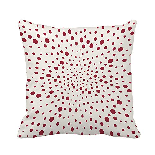 N\A Throw Pillow Cover 70S Red Trippy Space Pattern 80S Abstract Black Bohoes Funda de Almohada Funda de Almohada Cuadrada Decorativa para el hogar Funda de cojín
