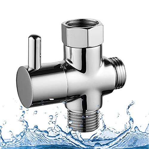 Valvola deviatore, otutun G1/2 Valvola deviatrice a 3 vie resistenza alla pressione, durata Valvola deviatore Doccia per bagno per adattatore doccia in ottone massiccio Deviatore flusso Cromo
