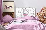 Oedim - Cabecero Cama PVC Infantil Osita Bailarina 135x60cm | Disponible en Varias Medidas | Cabecero Ligero, Elegante, Resistente y Económico