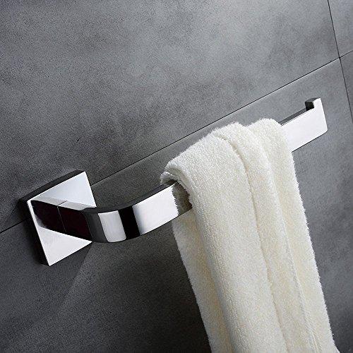 Weare Home 1 Stück Edelstahl Chrom finished modern silbern einfach Design Badezimmer Accessoires Handtuchring Handtuchhalter Wandmontag Wandhalterung Bohren