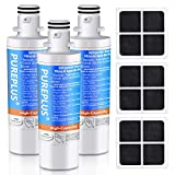 PUREPLUS ADQ747935 Replacement for LG LT1000P LT1000 Kenmore Elite 9980 LT1000PC, MDJ64844601 ADQ74793501, LMXS28626S, LFXS26973S, LMXS30796S, LMXC23796S LT120F Refrigerator Water and Air Filter,3Pack