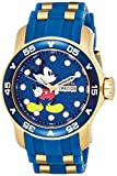 Invicta Men's Disney Limited Edition Stainless Steel Quartz Watch with Silicone Strap, Blue, 26 (Model: 23764)