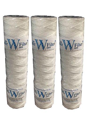 The Water Filter Men 3 x Cartucho bobinado de Filtro de Agua, de Filtro de era Diesel y Aceite Vegetal (1 micra)