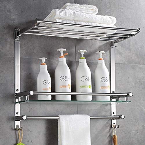 7 mm glasskåp hylla och handdukshållare vägg handdukshållare Rack SUS 304 rostfritt stål duschhållare Caddy skruv tillbehör 6 9 (storlek: 40 cm)
