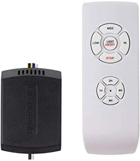 Ceiling Fan Remote Control Kit, Small Size Universal Ceiling Fans Light Remote, Speed, Light & Timing 3 in 1 Wireless Control, for Harbor Breeze Hunter Hampton Bay Lichler Ceiling Fans Remote