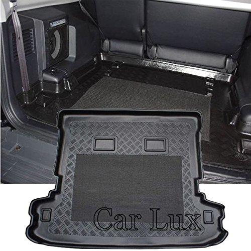 Car Lux AR01386 - Alfombra Cubeta Protector cubre maletero a medida para Montero/Pajero Largo 5 Puertas desde 2000- con antideslizante