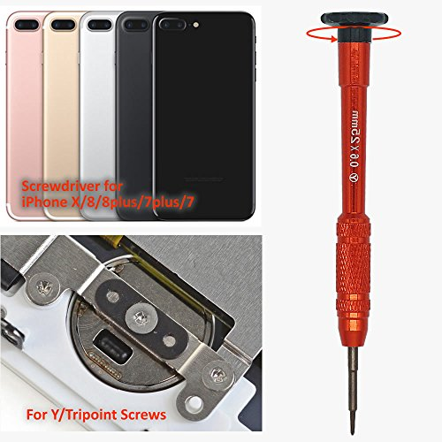 Teckman Y000 Tripoint Screwdriver,Magnetic Y000 Triwing Screwdriver Bit Set for iPhone 7/7Plus,iPhone8/8Plus,iPhone X and Apple Watch Repair