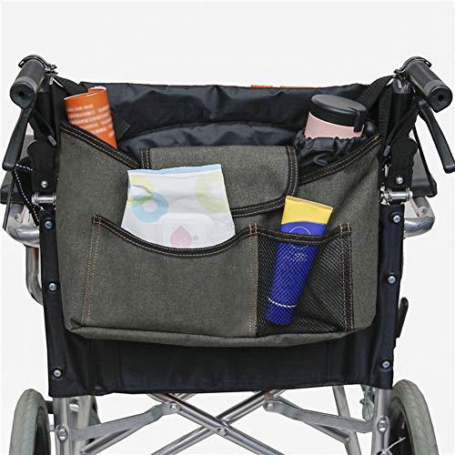 PINGJIA Multifunktions-Rollstuhlbeutel Rucksack Aufbewahrungstasche Hände frei Beutel Organizer Zubehör Reisetasche zum Rollen Geeignet für die meisten Rollstuhlfahrer Kinderwagen