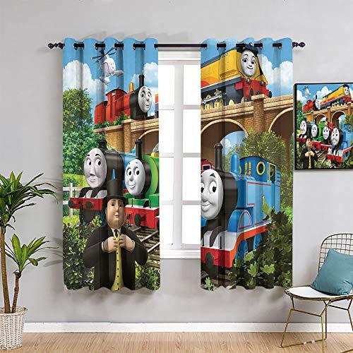 Sdustin Thomas die kleine Lokomotive Schlafzimmer-Vorhänge, 2 Paneele, 253 x 213 cm