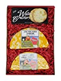 WISCONSIN CHEESE COMPANY's - Classic Colby Longhorn Cheese & Cracker Gift Box. Quality Colby & Marble Long Horn Cheese, A Great Snack or Gift to Send. Approx. 1.5lb of Wisconsin Cheese.