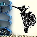 Fahrrad Motorrad Wandtattoo Motocross Sport Home Decoration Art Wandbild Aufkleber Wasserdichter Aufkleber für Jungen Schlafzimmer A4 57x66cm