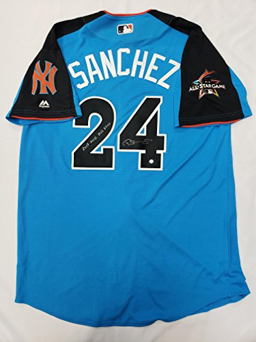 Gary Sanchez Signed New York Yankees Blue 2017 MLB All Star Game Jersey