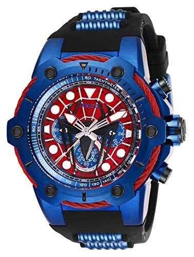 Invicta Men's Marvel Stainless Steel Quartz Watch with Silicone Strap, Two Tone, 30 (Model: 26915)