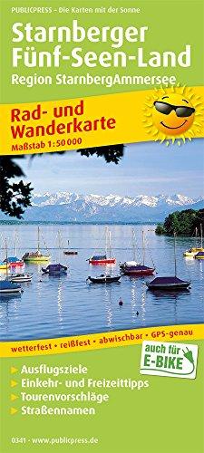 Starnberger Fünf-Seen-Land, Region StarnbergAmmersee: Rad- und Wanderkarte mit Ausflugszielen, Einkehr- & Freizeittipps, wetterfest, reissfest, ... 1:50000 (Rad- und Wanderkarte: RuWK)