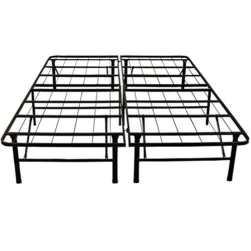 Classic Brands Hercules Black Heavy Duty Metal 14-Inch Platform Mattress Foundation Bed Frame - Full