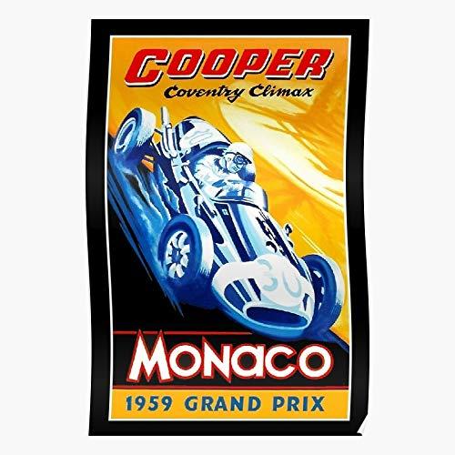 dressbarn Automobiles Monaco Auto Vehicles Cooper Prix Coventry Cars Racing Climax Grand Das eindrucksvollste und stilvollste Poster für Innendekoration, das derzeit erhältlich ist