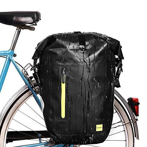 Borsa da Bici Posteriore Impermeabile, Borse Posteriori per Bicicletta da 25L di Grande Capacità, Borsa Posteriore della Bici per Mountain Bike Mtb Bici da Ciclismo Accessori per Bici Sportive