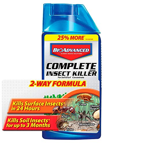 BioAdvanced 700270B Complete Insect Killer for Soil & Turf, Lawn and Yard Bug Killer, Concentrate, 40-Ounce