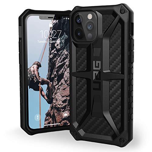 Urban Armor Gear Custodia Antiurto Monarch Iphone 12/12Pro, Carbon Fiber