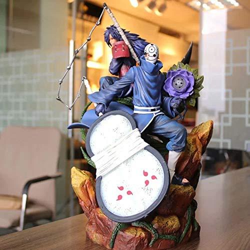 ZLYCZW Naruto Statue Modell - Uchiha Obito VS Uchiha Madara PVC Atcion Figur, Animation Derivate/Peripherieprodukte, Statue Sammlerstück Zeichentrickfigur Spielzeug, 40cm