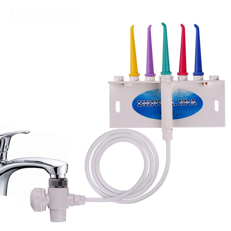 口腔洗浄器コードレスティースウォーターフロスクリーナー蛇口口腔歯科用洗浄器フロスホーム、5ヘッド