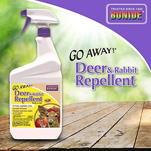 Bonide Ready-to-Use Go Away Deer & Rabbit Repellent, 32 Oz.