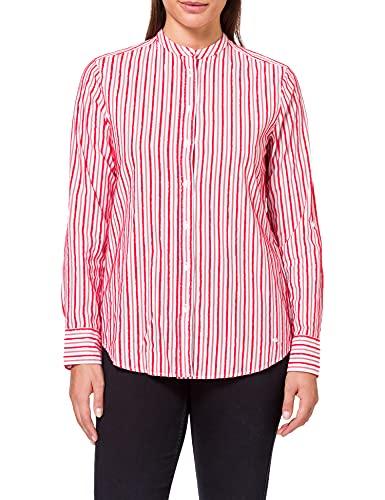 BRAX damska bluzka w paski, styl Victoria Cotton Fringe Stripes w paski bluzka damska ze stójką