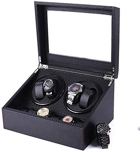 Cajas Giratorias para Relojes Mira Enrollador Automático con Adaptador De CA Quiet Mabuchi Motor Accionado O Negro Watch Winder, Automatic Watch Winder Box mwsoz
