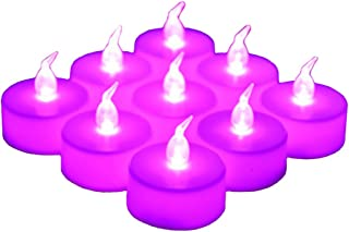 24 Pack LED Tea Lights Candles – Steady Flameless Tealight Candle – Long Lasting Battery Operated Fake Candles – Decoration for Wedding, Party and Christmas (Pink - 24pcs)