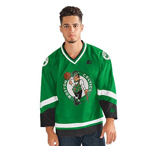 STARTER Men's NBA Legend Hockey Jersey Boston Celtics, Green, 4X
