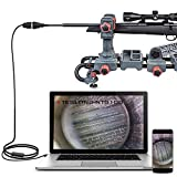 Teslong Rifle Borescope, Bore Camera Gun Cleaning Camera - Fits .20 Caliber & Larger-Hunting Shooting Firearms Visual Barrel Inspection Tool w/3 Right-Angle Mirrors and Carrying Case(45inch-Flexible)