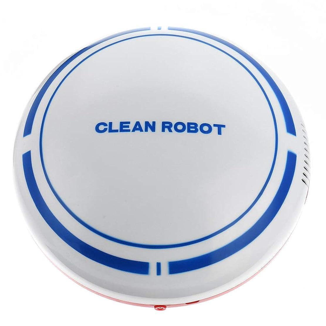 ブルーベルコンベンション判定掃除機 ホーム用のマシンを掃く自動充電式スマート掃除機フロアクリーナー コードレス掃除機 (色 : White, Size : One size)
